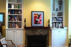 Custom Hearth and Shelves